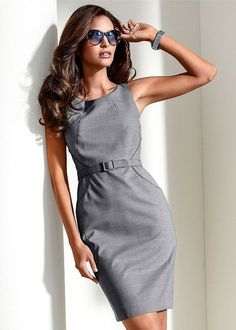 Venus Women's Belted Shift Dress