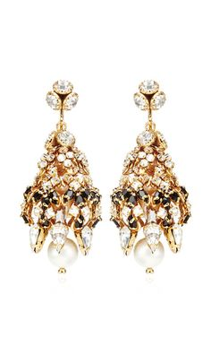 Crystal and Faux-Pearl Earrings by Bijoux Heart