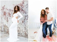 Before and After: Arizona Maternity and Nursery Inspiration including links to sources and vendors for both sessions