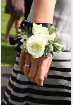 Corsages- switching the rose for gardenia