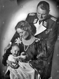 Hermann Goering with his wife Emmy & his daughter Edda, 1939