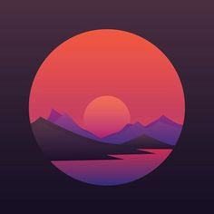 How do you like this one? ;) #illustration #design #art #landscape #roerich #nicholasroerich #рерих #mountains #landscape #minimalistic #gradients #dribbble #behance #sky #vector #illustrator #flatdesign #poster #gamedesign #sunset #dawn #dusk #violet #sun #graphics #hills #lake #vector #bestvector