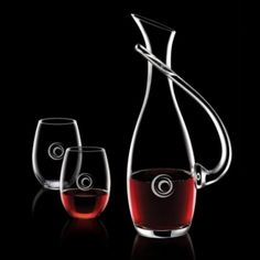 Promotional Products Ideas That Work: Uxbridge Carafe & 2 Stemless Wine. Get yours at www.luscangroup.com