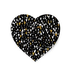 Triangle Modern Art - Black Gold Heart Sticker - black and white gifts unique special b&w style Gold Style, White Style, Black And White Stickers, Gold Bedroom, Party Ideas, Gift Ideas, Gold Gifts, Heart Of Gold, Cool Diy