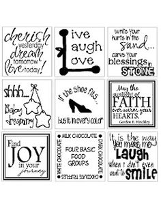 Tile word sayings - Ideas to put on coaster tiles Tile Projects, Vinyl Projects, Ceramic Tile Crafts, Shilouette Cameo, Stencils, Suncatcher, Biscuit, Diy Coasters, Ceramic Coasters