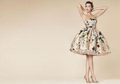 Rose print Mikado prom dress « daisiesinbloomblog
