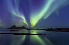 Show at night, north of Norway