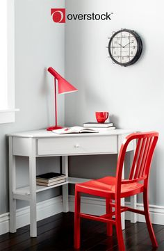 Create a functional office space in a tight corner with the Simple Living antique computer desk. This classically styled desk utilizes a small space for a big impact, with stylish under-desk shelving and a drawer to hide clutter. Equip the workspace with a computer, or leave it clear for use as writing or crafting space.
