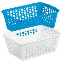 """Get your home, classroom, office, craft room, utility, or storage closets organized with this multipurpose plastic basket! Case includes 36 – 14¾x9-7/8x5-3/8""""H rectangular slotted pl"""