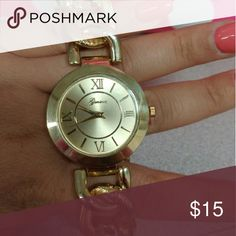 Watch Gold chain looking watch Accessories Watches