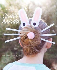 Funny Bunny Easter Hairdo