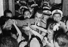 Gamal Abdel Nasser of Egypt Egyptian Newspaper, President Of Egypt, Gamal Abdel Nasser, Old Egypt, Rich Image, Modern History, Photo Library, Royalty Free Photos, Continents
