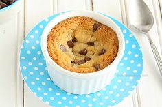 Single Serving Deep Dish Chocolate Chip Cookie from www.chocolatemoosey.com @chocolatemoosey
