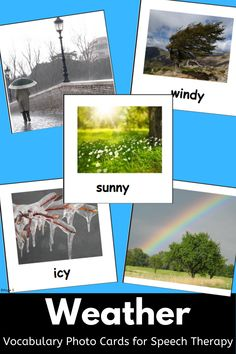 Spelling Activities, Vocabulary Activities, Science Resources, Language Activities, Weather Vocabulary, Vocabulary Cards, Teaching Resources, Teaching Ideas, Weather Lessons