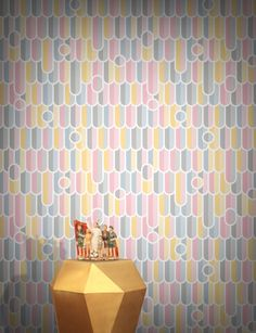 Drip the Scales Wallpaper by Aino Huhtaniemi Original Wallpaper, Pink Wallpaper, Other Rooms, Designer Wallpaper, Girl Room, Contemporary, Modern, New Homes, Wallpapers