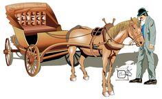 CHARRETE E CONDUTOR Outra visualização com a figura da charrete, mostrando o seu condutor. Desenho - Ilustração - Illustration - Drawing http://arterocha.blogspot.com.br