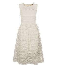 Look what I found on #zulily! Cream Crochet Day Dress #zulilyfinds