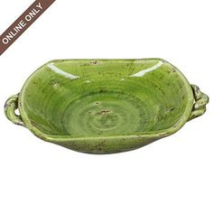 Tuscan style Green Ceramic decorative bowl for a low price of $20!