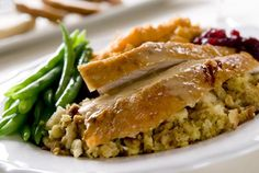 A seasoned brine makes this turkey breast more moist and flavorful. This well seasoned roast turkey is perfect for a Sunday dinner or Thanksgiving meal.