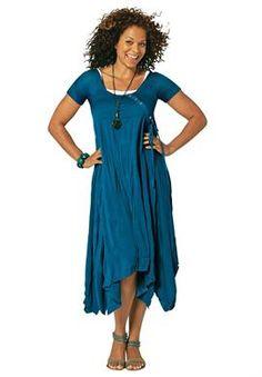 Asymmetrical Hem Dress by La Redoute | Plus Size Casual Dresses | Jessica London