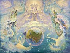 View album on Yandex. Art And Illustration, Fantasy Kunst, Fantasy Art, Zen Art, Russian Art, Gods And Goddesses, Light Art, Fractal Art, Deities