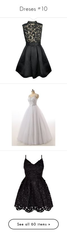 """Dreses #10"" by taishacasimir on Polyvore featuring dresses, lace turtleneck, floral mini dress, sleeveless dress, lace cocktail dresses, lace skater dress, wedding dresses, vestidos, short dresses and vestidos curtos"