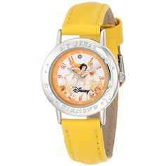 """Disney Kids' 51078-E """"My First Diamond"""" Multi-Princess Watch with... ($37) ❤ liked on Polyvore featuring jewelry, watches, buckle watches, diamond jewelry, disney, yellow jewelry e disney jewelry"""