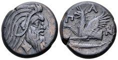 AE20. Greek, Cimmerian Bosporos, Pantikapaion. Circa 310-304/3 BC. 20mm, 8,09g, 6h. MacDonald 69. Good VF. Price realized (2.7.2016): 72 EUR.