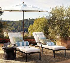 Riviera Single Chaise & Cushion | Pottery Barn