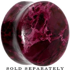 "3/4"" Double Flare Red Serpentine Stone Plug"