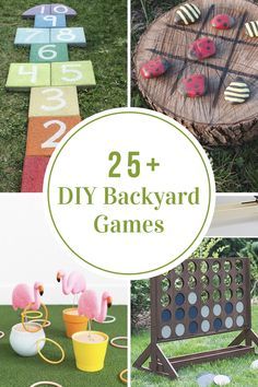 Summer is officially here in our neck of the woods. So fire up the grill and have some fun with these DIY Backyard Games!