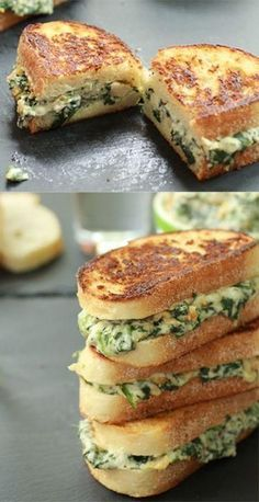 Spinat und Artischocken-Melts So can you know your favorite party dip, spinach and artichoke? Yes, I completely spread all over some bread and it grilled up to grilled cheese-style # diet meals Making Grilled Cheese, Best Grilled Cheese, Brie Grilled Cheeses, Gormet Grilled Cheese, Grilled Cheese Recipes Easy, Best Cheese, Plats Ramadan, Cooking Recipes, Healthy Recipes