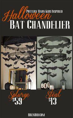 BrenDid Pottery Barn Kids Inspired Bat Chandelier Knock off DIY #diy #halloween Easy Halloween Ideas http://brendid.com/pb-kids-inspired-bat-chandelier/