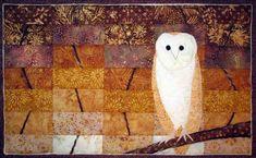 'Barn Owl' quilted wall hanging by For Quilts Sake: https://foltboltshop.com/vendor/for-quilts-sake/