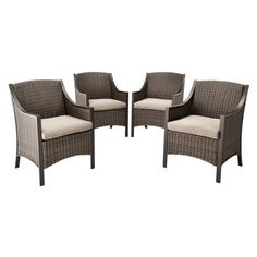 Threshold™ Casetta 4-Piece Wicker Patio Dining Chair Set