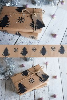 I love this Christmas wrapping paper pattern. Scandinavian style and minimalism #sponsored #wrappingideas #christmasgifts