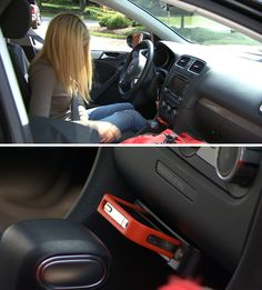 Keep your teens from texting while driving. This device disables the car from starting if a phone isn't plugged in.