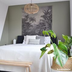 Painting Room Designs Basements New Ideas Bedroom Green, Home Bedroom, Modern Bedroom, Master Bedroom, Bedroom Decor, Bedrooms, Home Staging, Home And Living, Room Inspiration