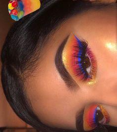 Makeup Eye Looks, Beautiful Eye Makeup, Flawless Makeup, Cute Makeup, Pretty Makeup, Skin Makeup, Eyeshadow Makeup, Eyeshadows, Yellow Eyeshadow