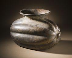 Squash Vessel, Mexico, Colima, 200 B.C. - A.D. 500 - Slip-painted ceramic | LACMA Collections