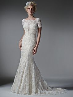 2016 Wedding Dress Trends: Short Sleeves. Tierney by Sottero and Midgley.