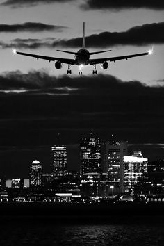 Coming in for a landing dark sky night city lights clouds airplane Airplane Photography, Civil Aviation, Jet Plane, Air Travel, Travel Plane, City Lights, Night Lights, Ciel, Scenery