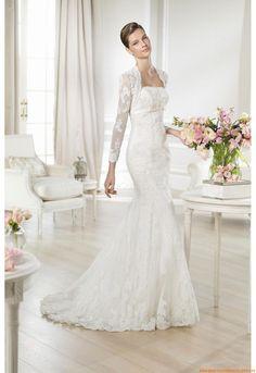 Trägerlos Meerjungfrau Sexy Elegante Brautkleider 2014 aus Spitze