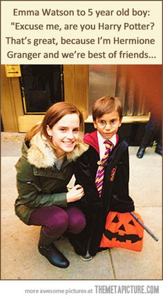 Excuse me, are you Harry Potter?... She is awesome.
