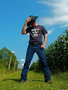 """""""COWBOY UP OR GO WAIT IN THE TRUCK"""", Stay Country Clothing, country, cute country boy, redneck, hot guys, cowboy, farm boy, cornfield, pasture staycountryclothing.storenvy.com"""