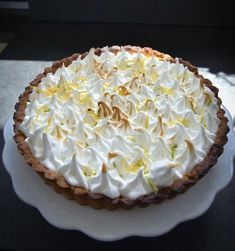 #tarte au Citron leckeres #Rezept für eine #Zitronentarte mit Baiser mit #lemoncurd
