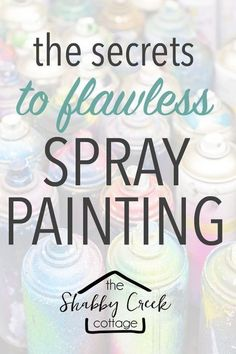 Everything you need to know about spray paint - great tips to remember! Before you grab that next can of paint, make sure you're doing the job right with these 10 tips for using spray paint for your next project. Spray Paint Techniques, Spray Paint Tips, Spray Paint Crafts, Spray Paint Wood, Spray Paint Projects, Paint Cans, Diy Craft Projects, Spray Painting Metal, Painting Techniques