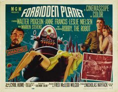 """Forbidden Planet (1956)  """"Forbidden Planet's"""" screenplay by Irving Block and Allen Adler, written in 1952, was originally titled """"Fatal Planet."""" The title, """"Forbidden Planet,"""" was selected instead for its presumed greater box-office appeal. http://scififilmfiesta.blogspot.com.au/2015/02/forbidden-planet-1956.html"""