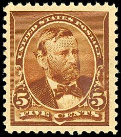 President Ulysses S Grant US postage stamp Scott #223 was issued on June 2,1890. Ulysses S Grant  graduated 21st out of the 39 cadets in his West Point class of 1843. This was the first postage stamp to depict the former President and Civil War General.