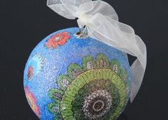 A small sapphire christmas ball